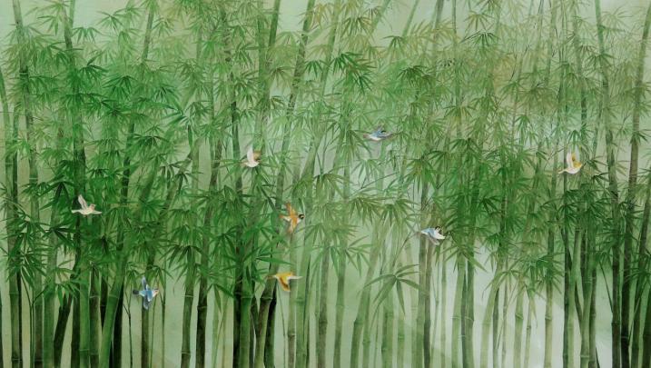 32-竹林小鸟